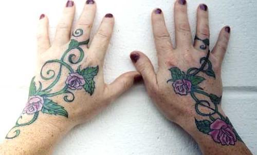 Mary's Rose Vine Hands. Artist: Megan Murphy