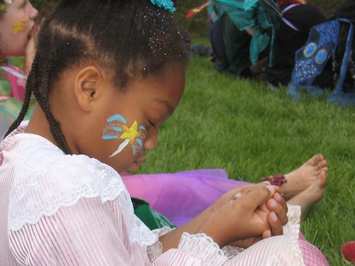 Sophia wishes on a fairy stone in 2005