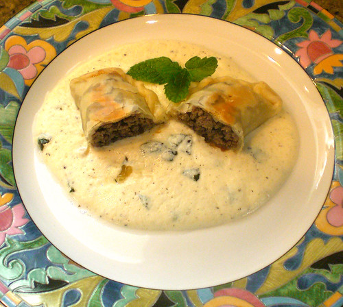 Shish- Barak (Beef Dumplings w/ Greek style yogurt) 15