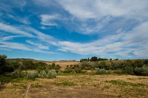 Campo, cielo y nubes (I)