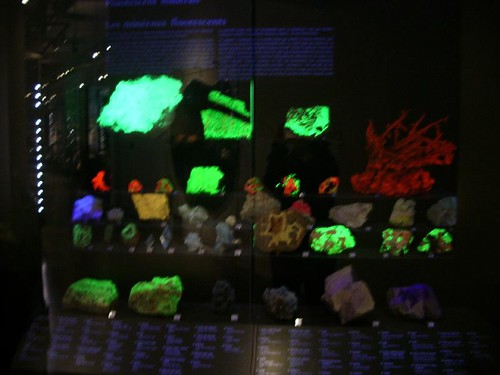 Disco rocks! These fluoresce under UV light, like a little 90s rave at the back of the gallery