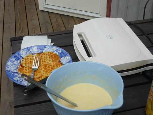 Outdoor waffle making