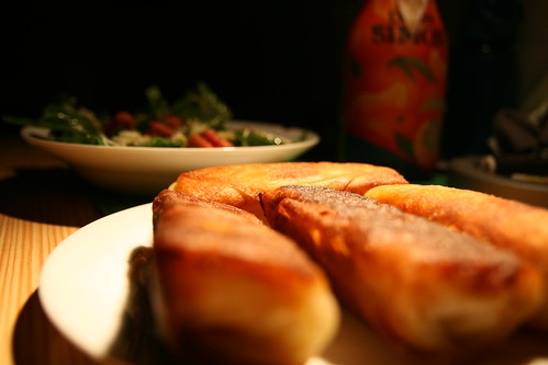 Spring Rolls and Spinach Salad