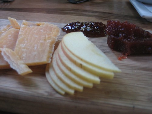 """""""Musty"""" balarina cheese and quince paste!"""