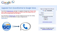 Google Voice login and migration window