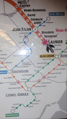 Subway map with many of my favorite stops shown