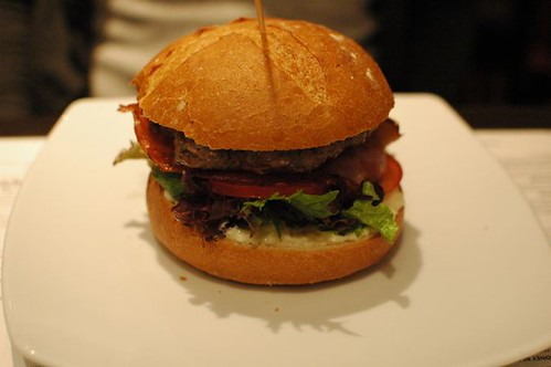 Duck & bacon burger