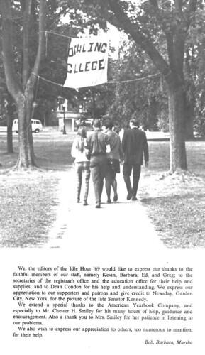 Thanks to the staff of the 1969 yearbook