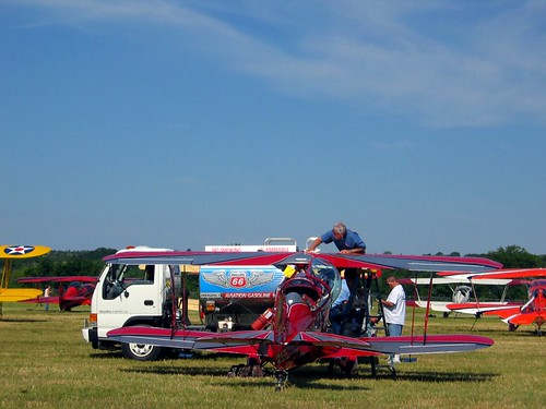 Biplane fueling.