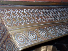 Very interesting brass hood over a fireplace at the Marshall House