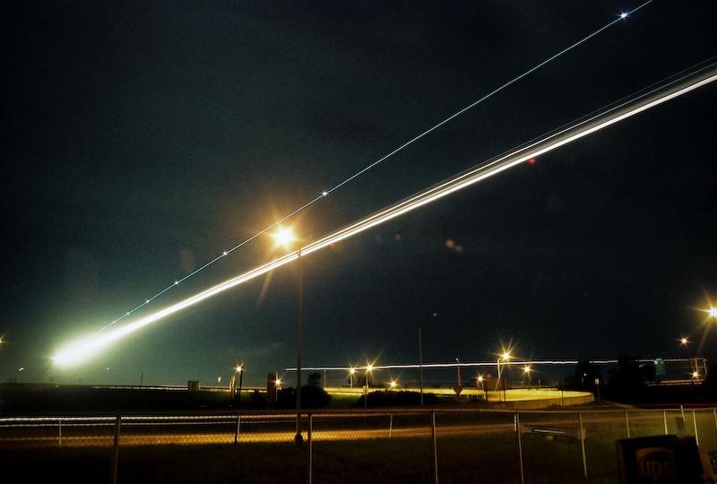 Landing at night
