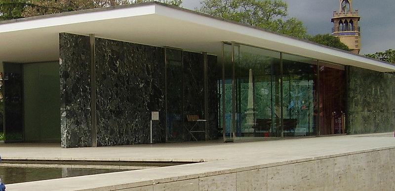 Mies van der Rohe Pavilhão Alemão de Barcelona