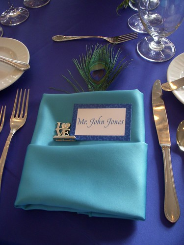 Peacock Napkin Setting