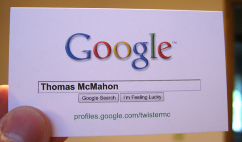 Google Business Card