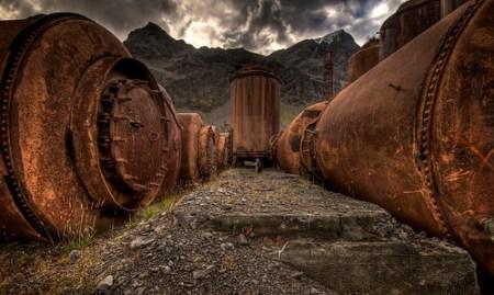 Depósitos para el aceite de ballena en Grytviken