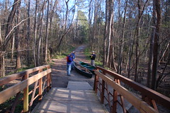 The bridge at the Cedar Creek access point