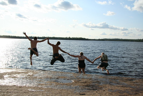 Jumping into the Lake