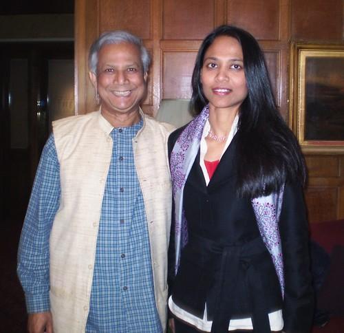 Rushanara Ali and Muhammad Yunus