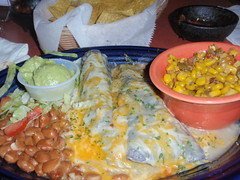 Blue Corn Enchiladas with Beans and Corn