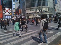 Scramble crossing, Shibuya