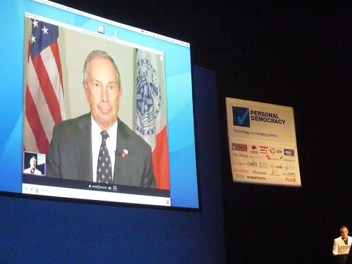 ürgermeister Michael Bloomberg skyped mit uns