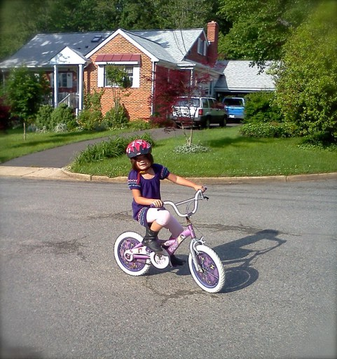 First day without training wheels!