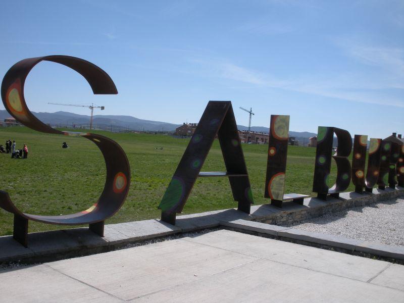 Foto 1 - Cartel de acceso a Salburua