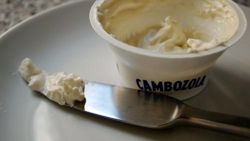 blue cheese + cream cheese = not good cheese