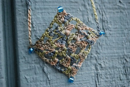 Granny Square Necklace - 2