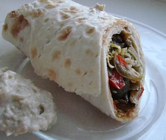 Veggie Wrap with Eggplant Dip