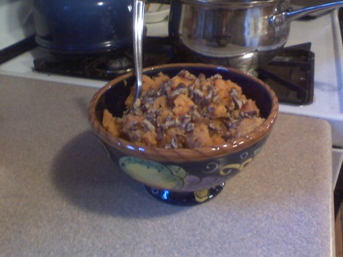 sweet potatoes and pecans