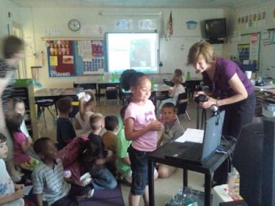Reidville class working with Skype