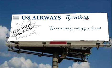 New US Airways Ad Campagin (er, not)