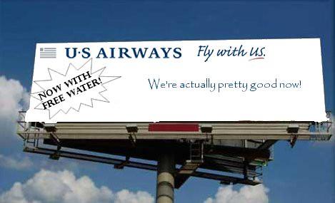 New US Airways Ad Campagin (er, not)