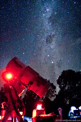 Milky Way over Telescopes