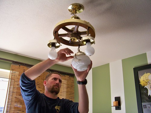 Switching out the dining room light