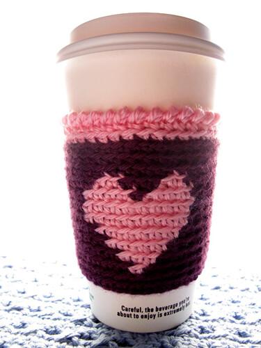 Love Coffee Cup Cozy
