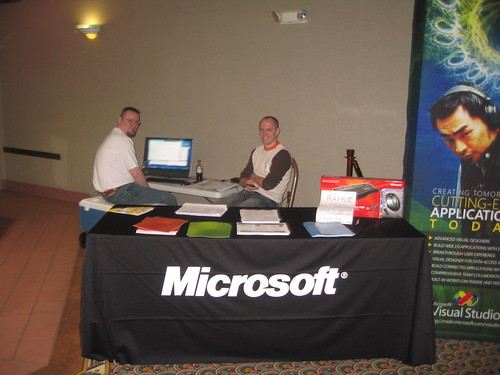 The Microsoft Booth, with Mike Eaton and Jeremy Adams