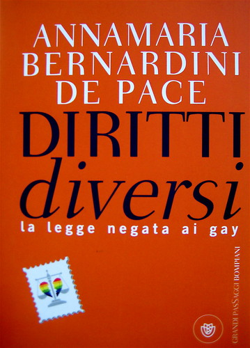Annamaria Bernardini De Pace, Diritti diversi. La legge negata ai gay, Bompiani 2009, progetto grafico: Playstudio, logo di Luciano Tallarini, (part.)