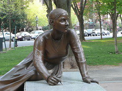 Lucy Stone, made of stone