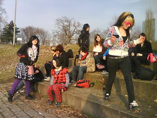 Emo-Treff Manheim 14.3.'09...auf der Rhein Terasse... by Ari[androgyny]