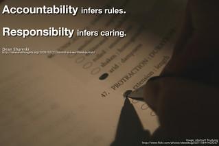 Accountability vs. Responsibility