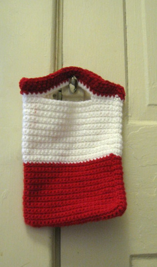 Crochet Purse #2, Lion Brand Wool and Lion Brand Suede