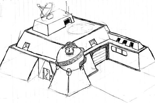 Space Base 1 - Original Sketch