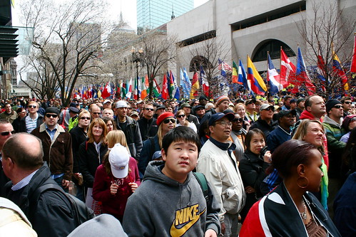 Boston Marathon Crowd!