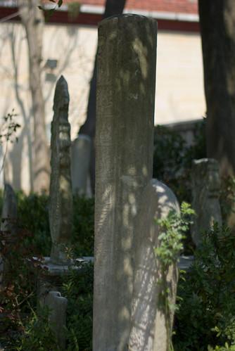 Hazreti Yuşa Türbesi bahçesindeki mezartaşları,  gravestones in Hz Yuşa Thombs garden, Beykoz İstanbul, Pentax K10d