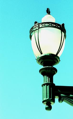 X-Pro Lamp. (Fuji Velvia 50 — Cross-Processed. Nikon F100. Epson V500.)