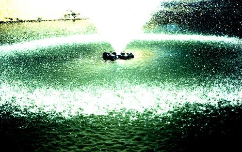 X-Pro Fountain. (Kodak Elite Chrome 100 — Cross-Processed. Nikon F100. Epson V500.)