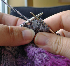 Wrapping short-rows, yarn back