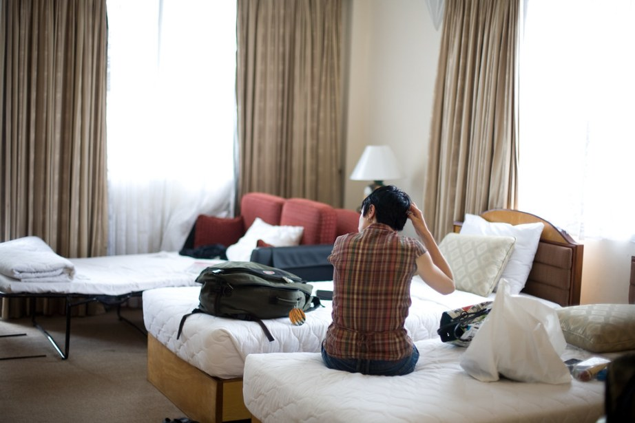Leanne in our Hotel Room, Ho Chi Minh City
